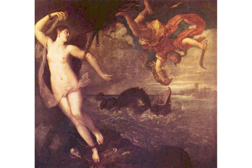 希臘神話-帕修斯-藝術品-救公主