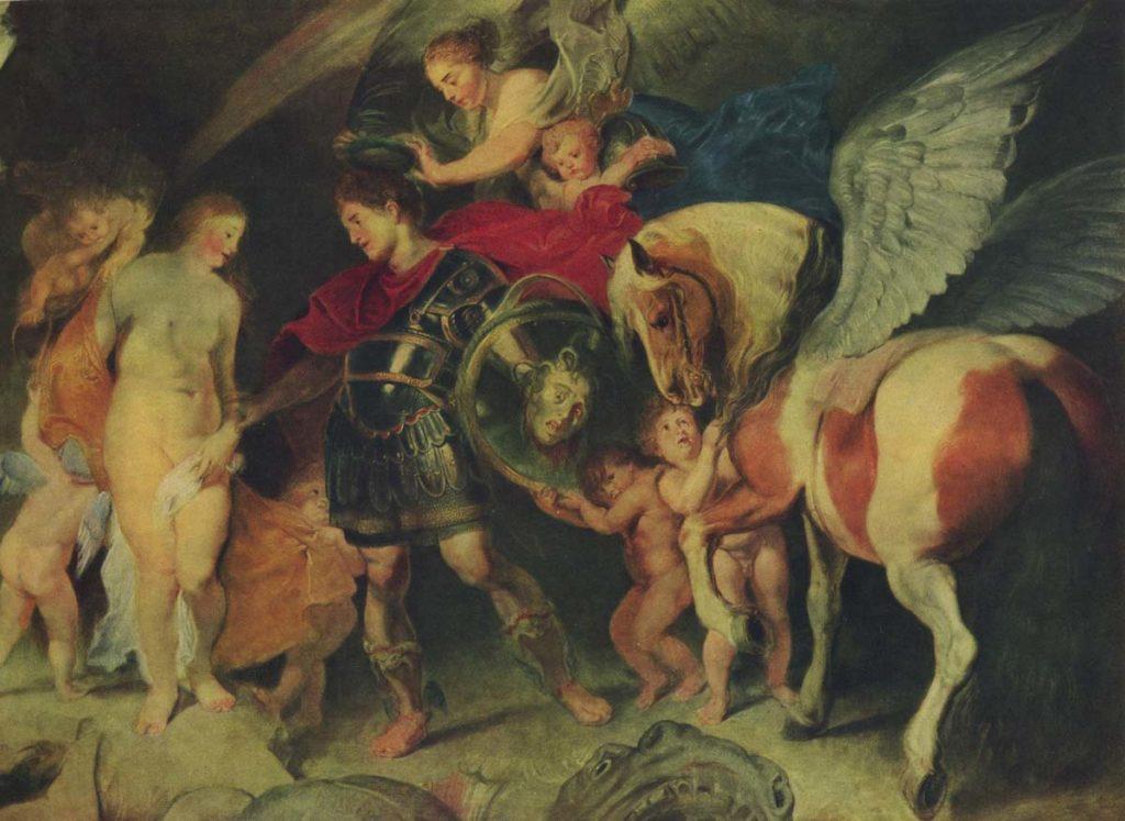 希臘神話-帕修斯-梅杜莎-藝術品-救公主