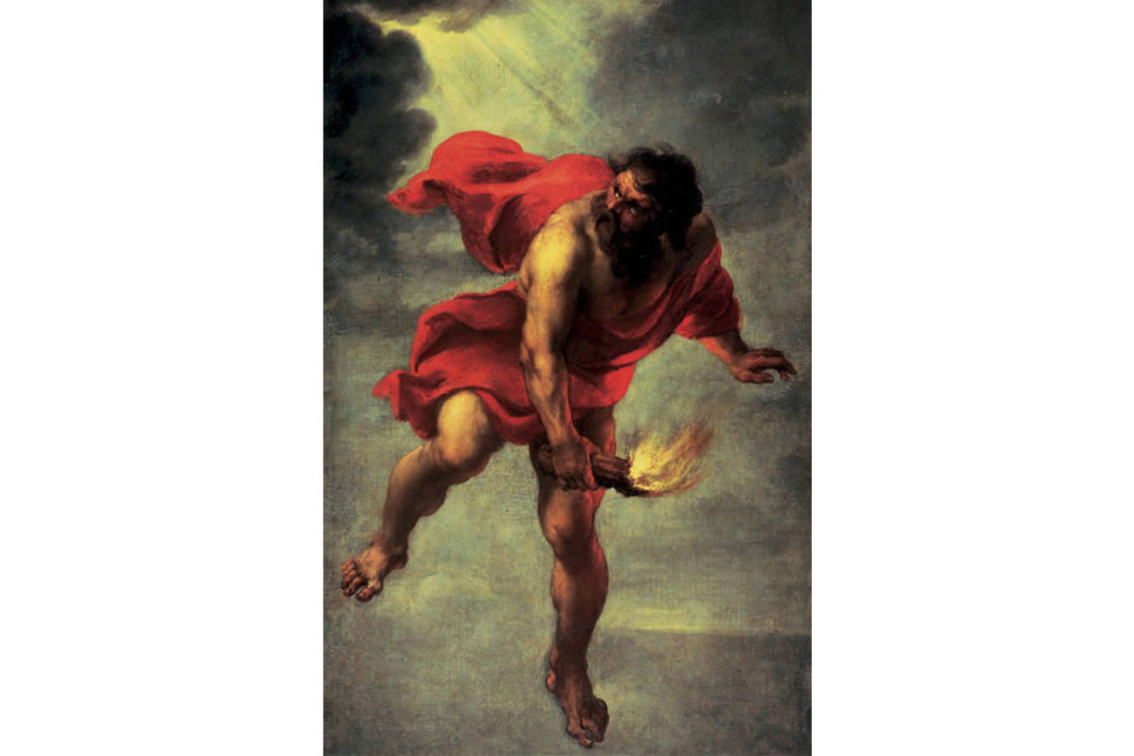 普羅米修斯-希臘神話-盜火到人間-Jan Cossiers