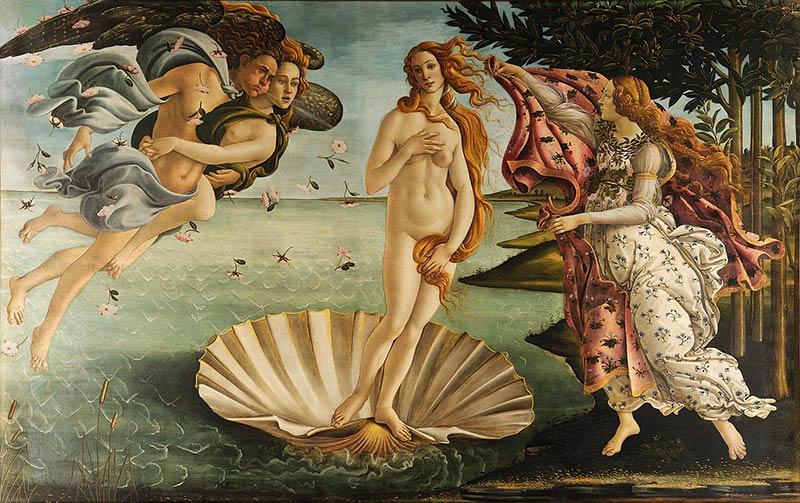 維納斯的誕生-希臘神話-波提且利