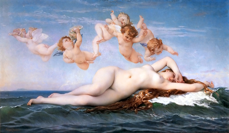 維納斯的誕生-希臘神話-藝術故事-卡巴內爾