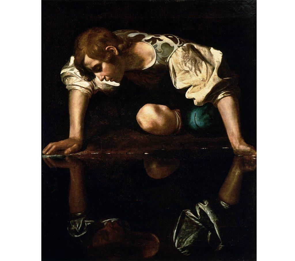納西瑟斯Narcissus-自戀-希臘神話-卡拉瓦喬