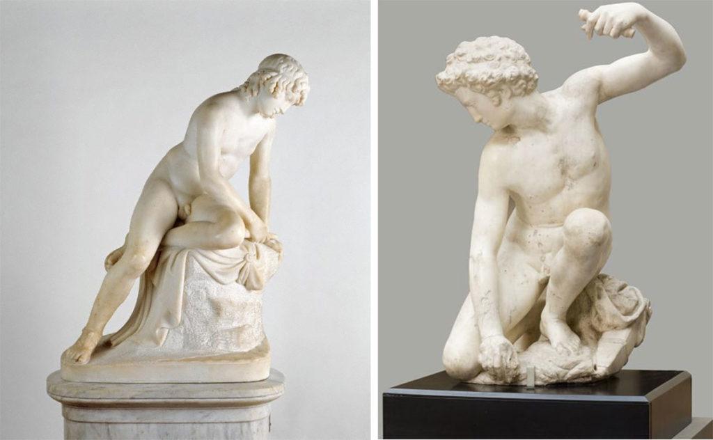 希臘神話-水仙花-自戀-雕塑