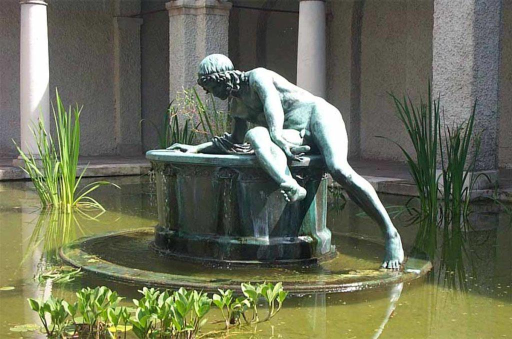 雕塑-希臘神話-水仙花-自戀
