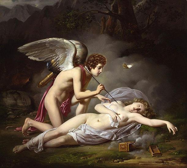 希臘神話-邱比特與賽姬-昏睡的賽姬