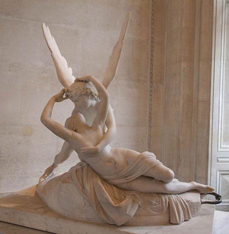 希臘神話-邱比特與賽姬-雕塑