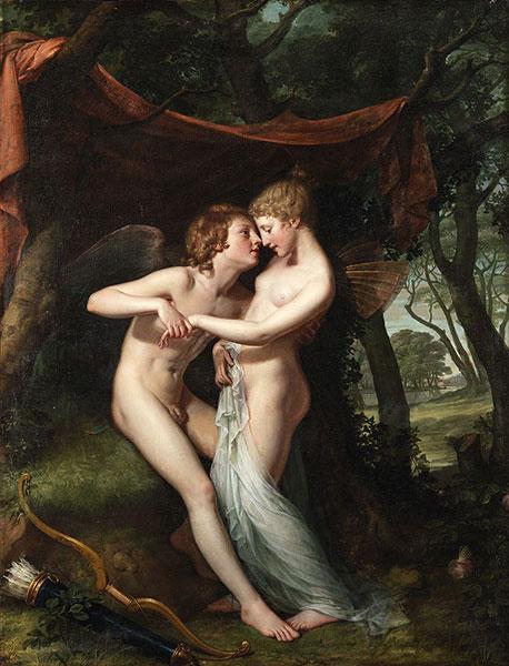 希臘神話-邱比特與賽姬-藝術品